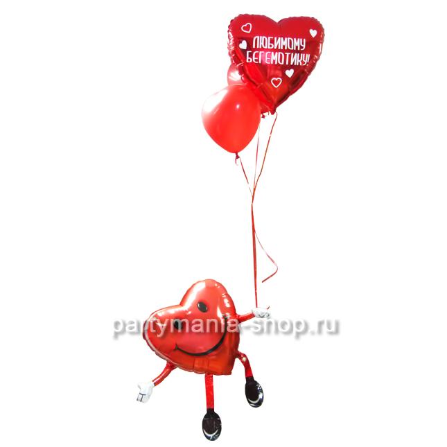 «Парящее сердце» композиция из шаров