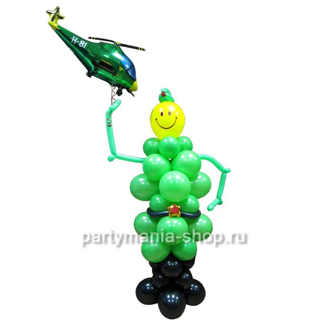 Защитник фигура из шаров