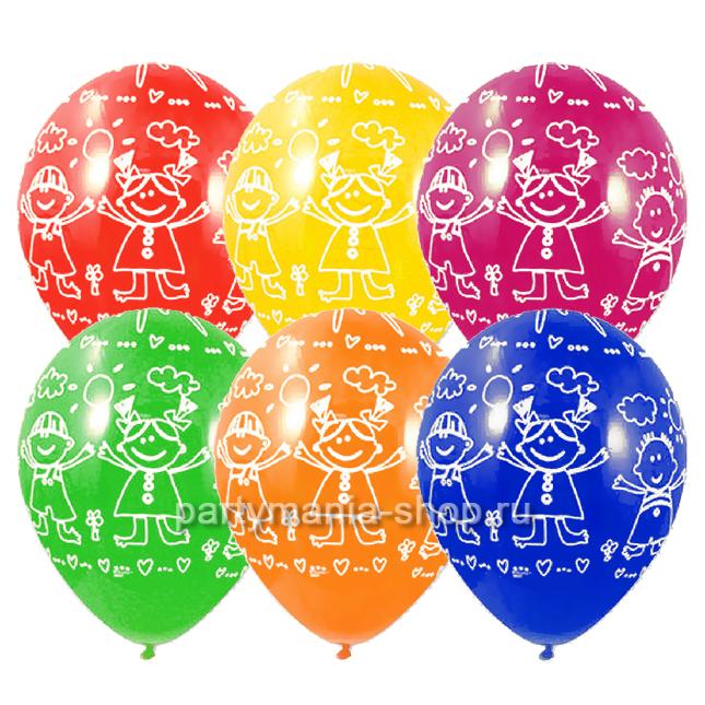 «Дети и солнце», шары ассорти