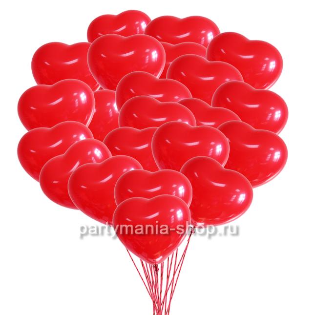 «Красные сердца» 45 шаров
