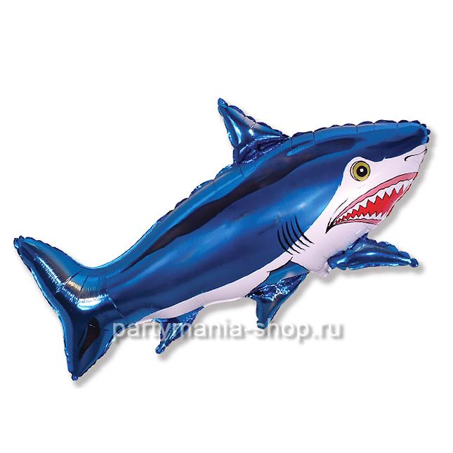 Акула фольгированный шар с гелием