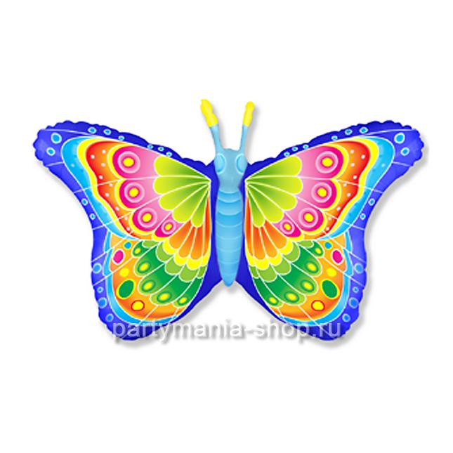 Бабочка кокетка фольгированный шар с гелием