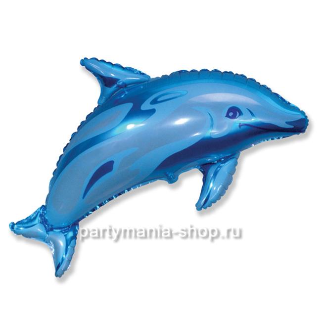 Дельфин фольгированный  шар с гелием