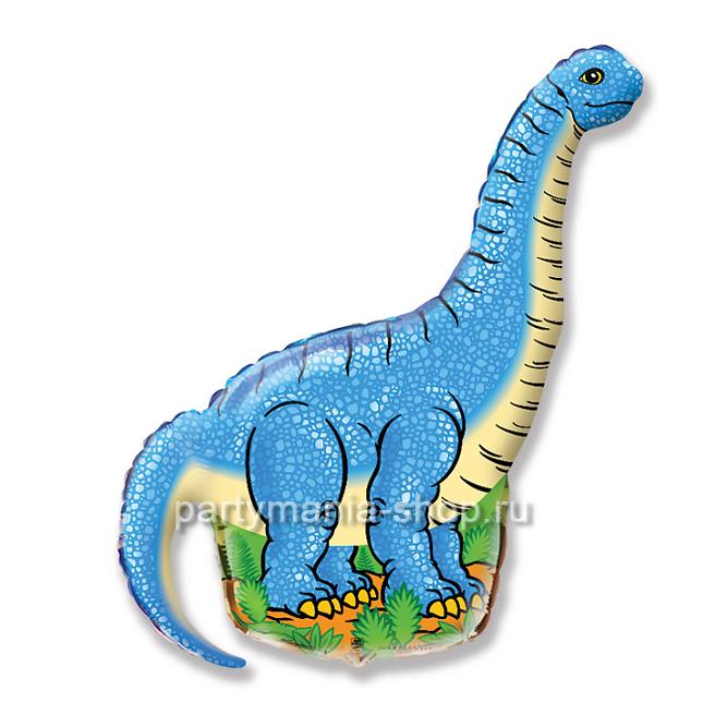 Динозавр диплодок фольгированный шар с гелием