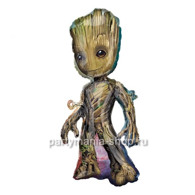 Фольгированная фигура малыш Грут с гелием