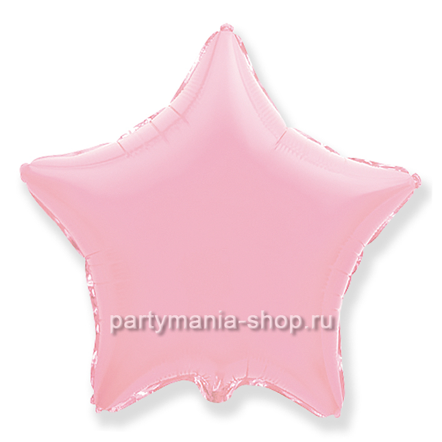 Фольгированная звезда розовая с гелием 46 см (матовая)