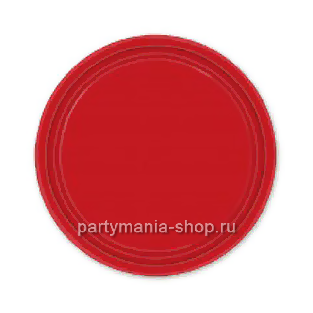 Красные тарелки  8 шт.