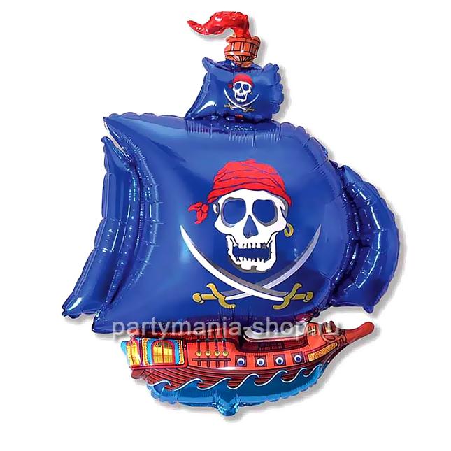 Пиратский корабль, фольгированный шар