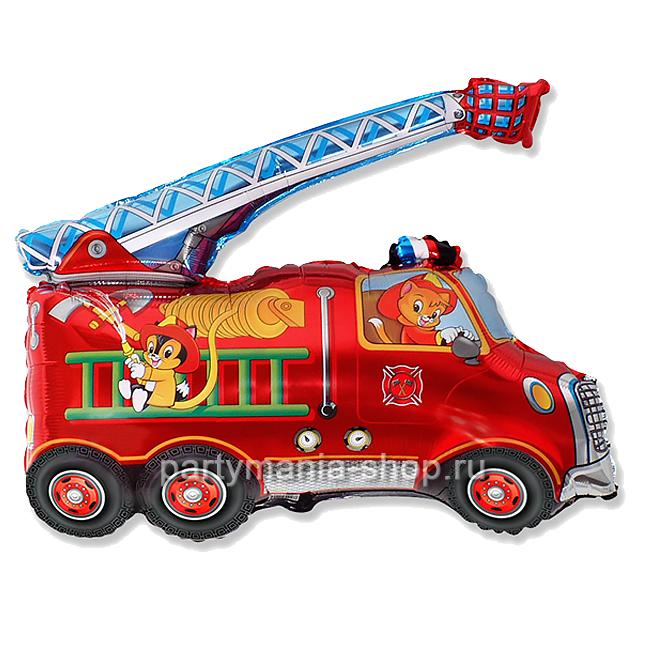 Пожарная машина фигурный шар с гелием