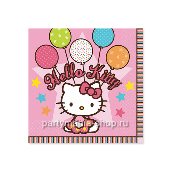 Салфетки  «Hello kitty» 16 шт.