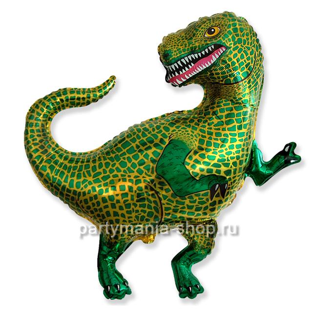 Тираннозавр  фольгированный шар с гелием