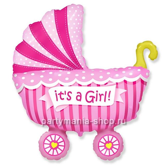 «Коляска для девочки» фигурный шар