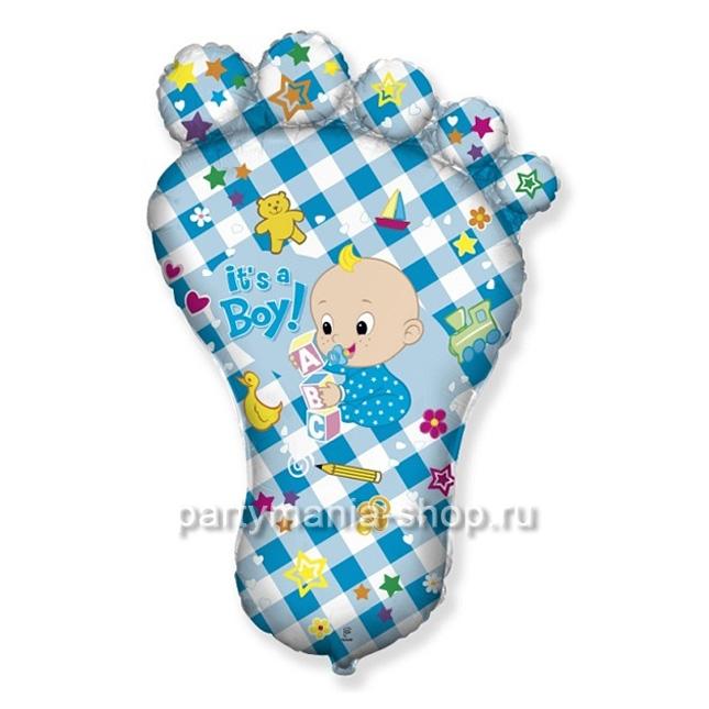«Пятка малыша - It's a BOY» фигурный шар
