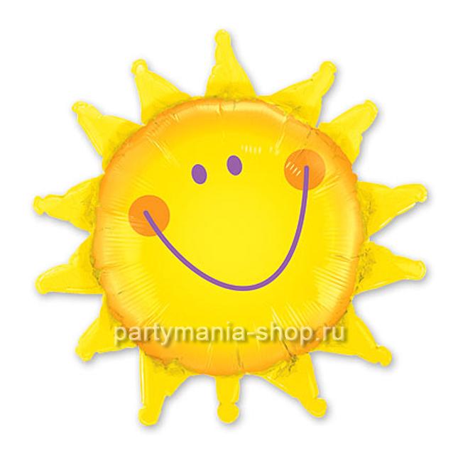 «Солнышко» фольгированный шар 89 см