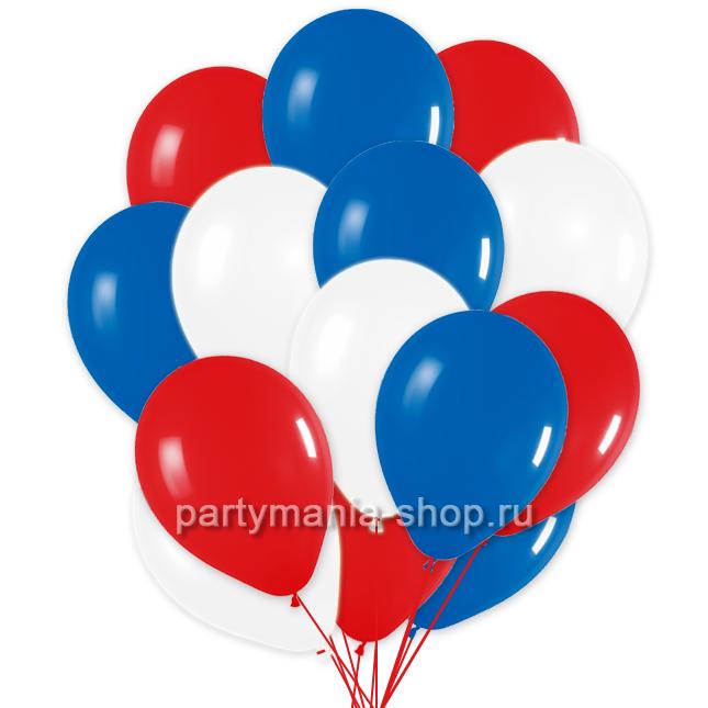 30 шаров «Триколор» с бесплатной доставкой