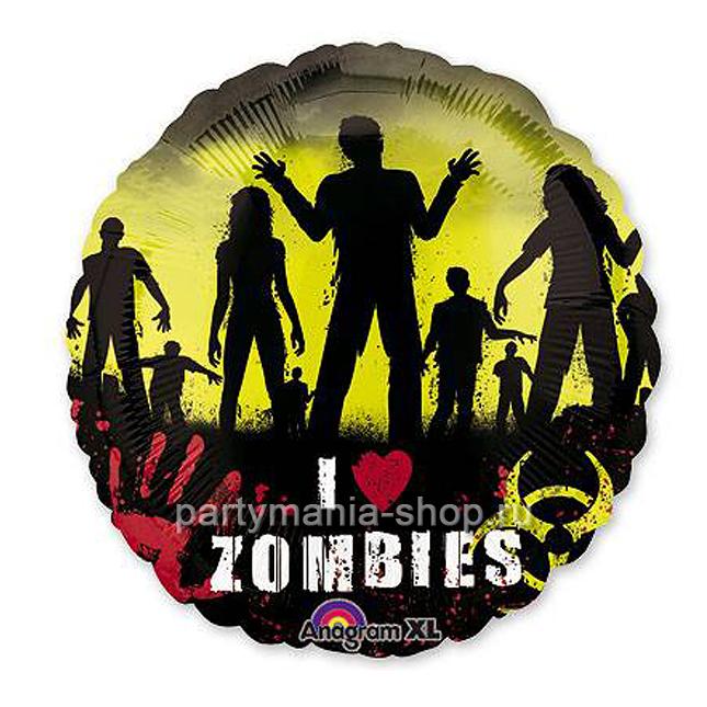 Фольгированный шар Зомби