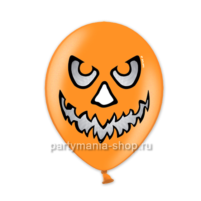 Злой шар оранжевый