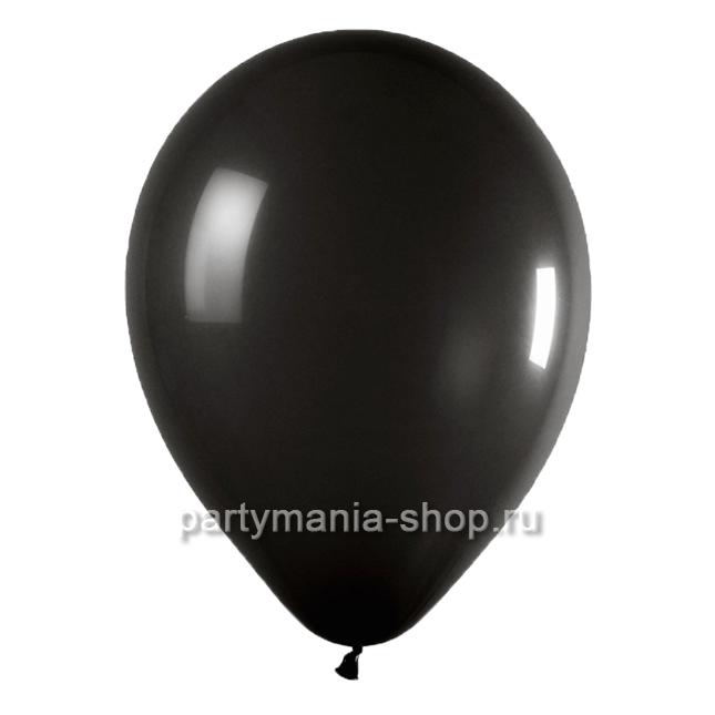 Черный шар пастель 35 см