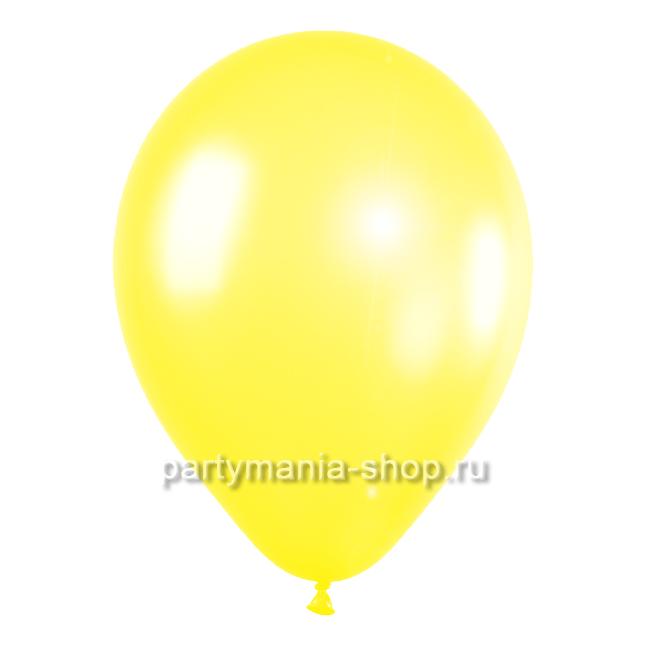 Желтый шар металлик 33 см