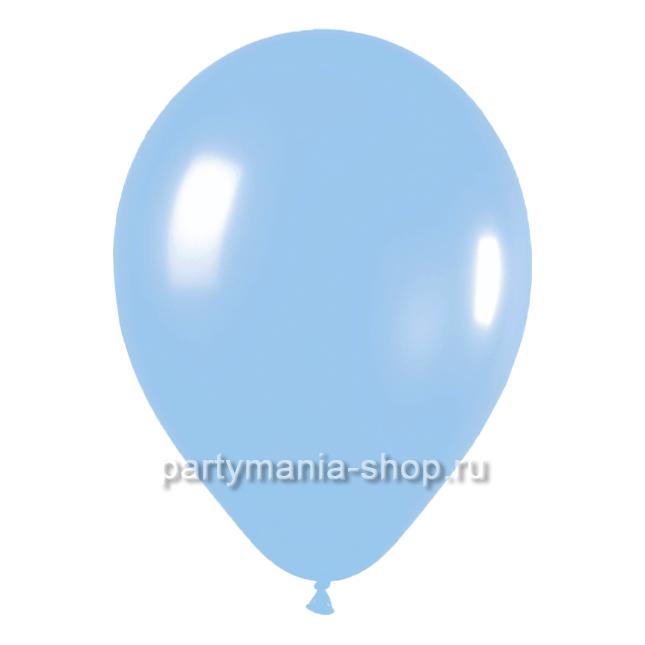 Голубой шар пастель 35 см