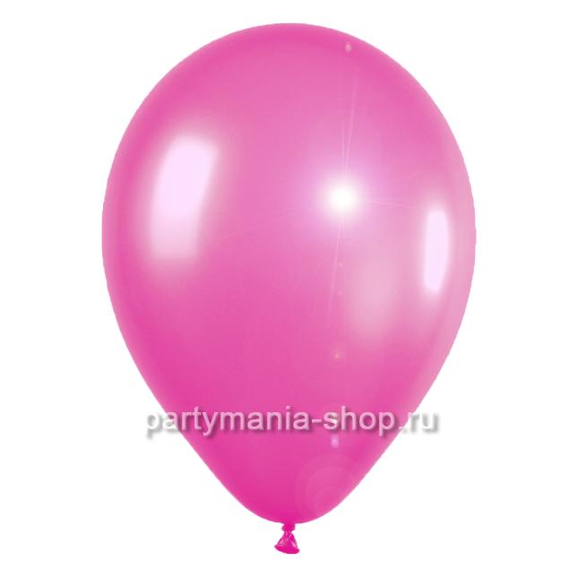 Малиновый шар металлик 33 см