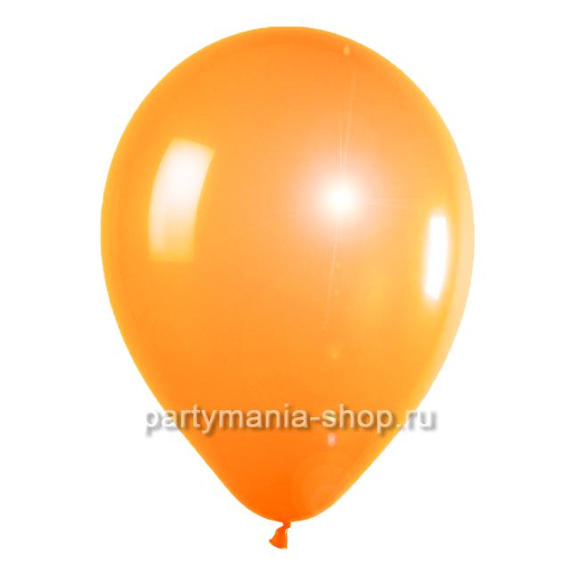 Оранжевый шар металлик 33 см