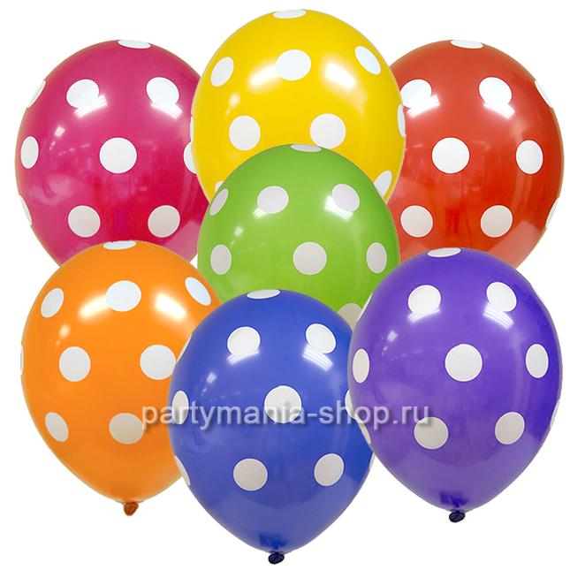 Ассорти «Горошек», шары пастель
