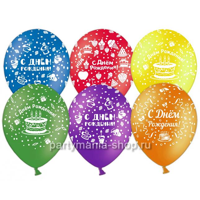 Ассорти «С днём рождения» (пирожные) 28 см