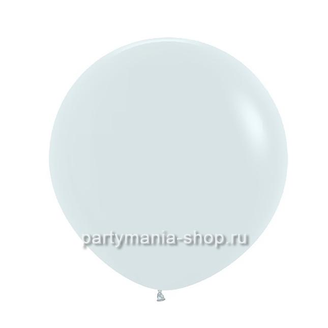 Большой белый шар пастель 60 см с гелием