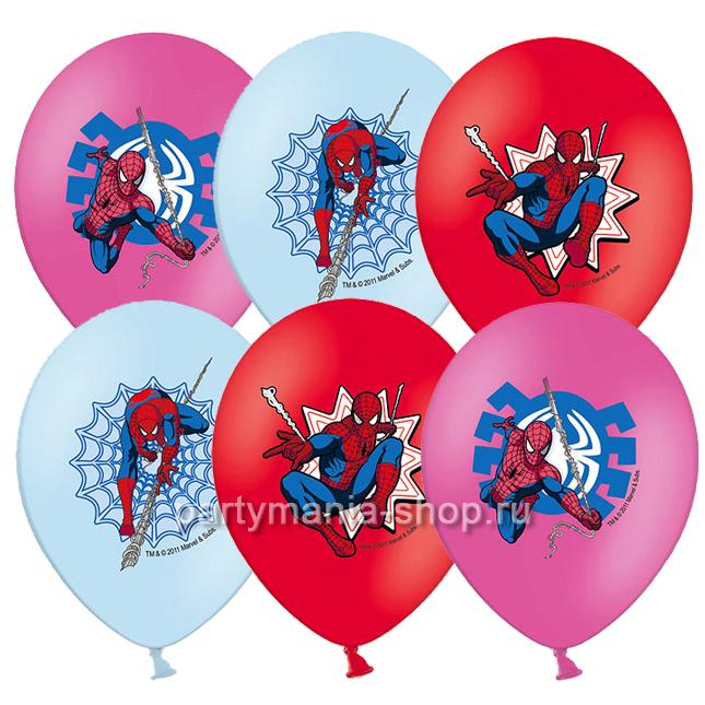 «Человек-Паук» воздушные шары  с 3-х цветной печатью