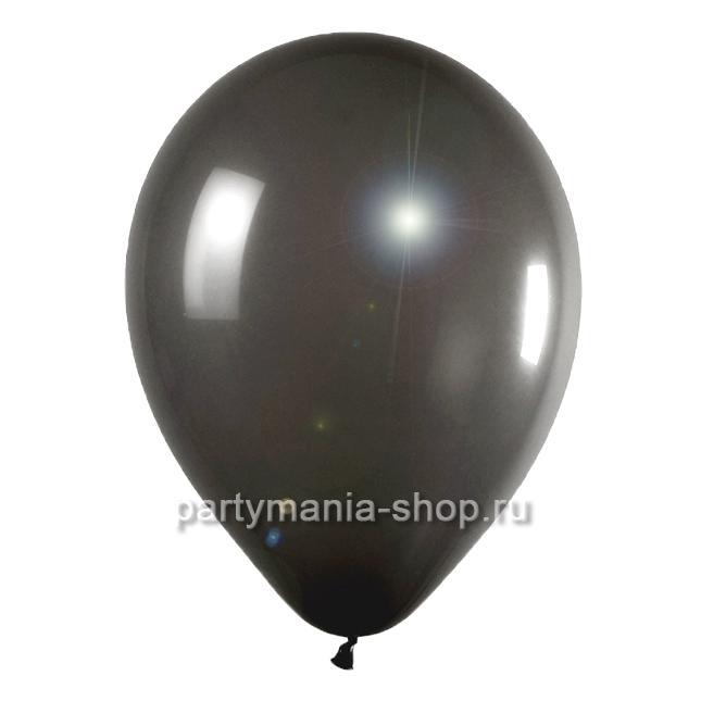 Черный шар металлик 33 см