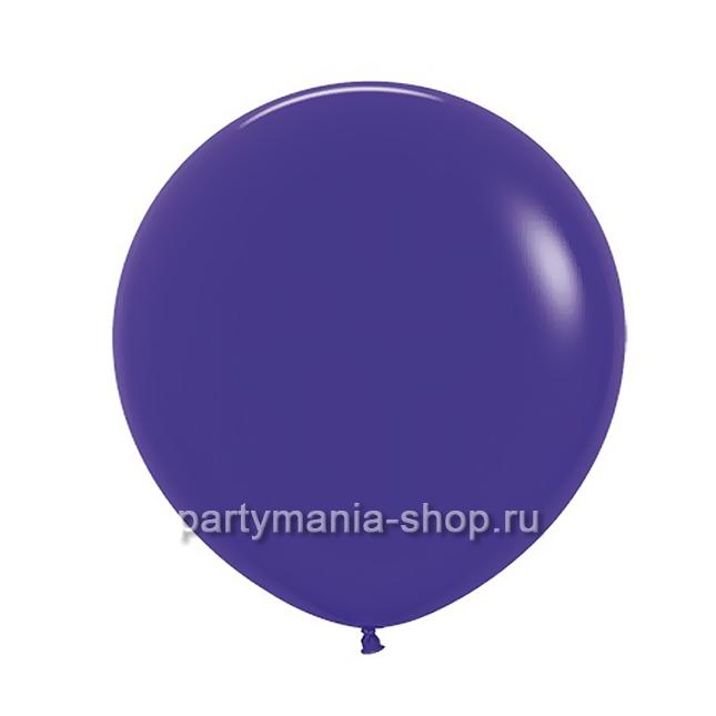 Большой фиолетовый шар пастель 60 см с гелием