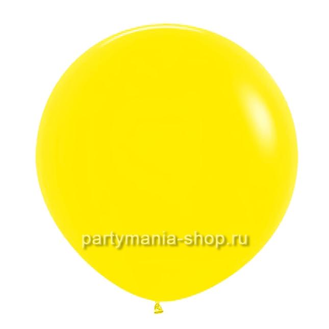 Желтый шар пастель 90 см с гелием