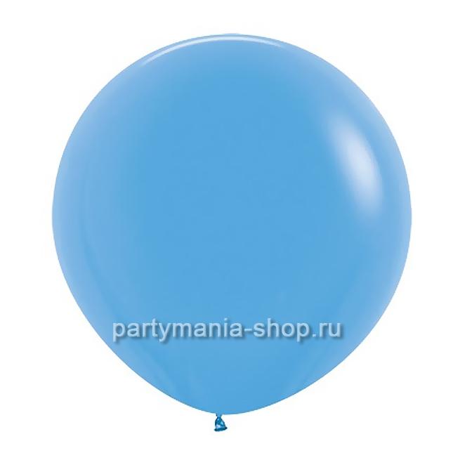Большой голубой шар пастель 90 см с гелием