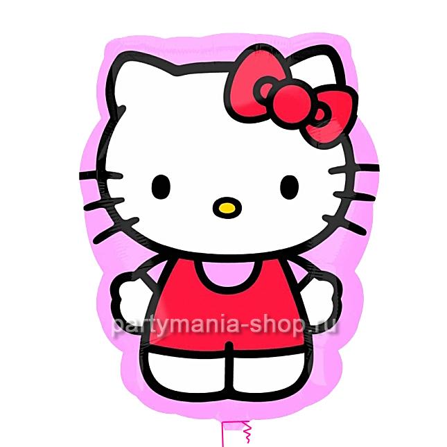 Hello Kitty в розовом, фигурный шар
