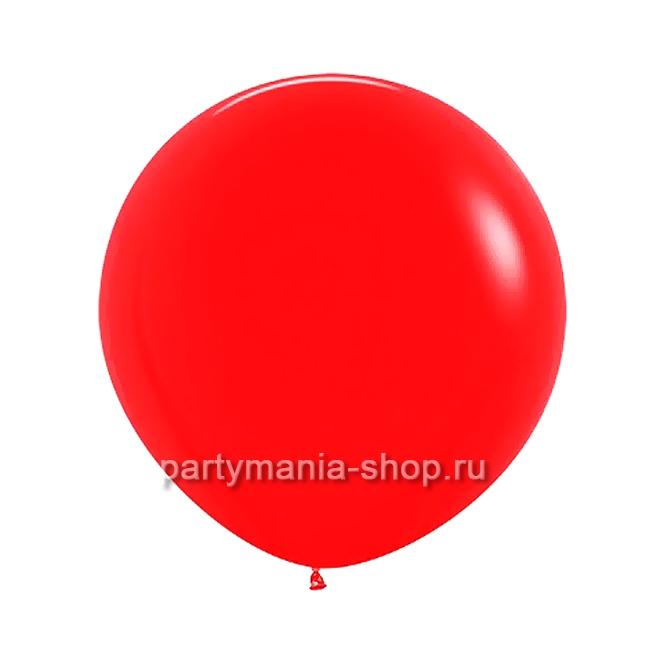 Большой красный шар пастель 60 см с гелием