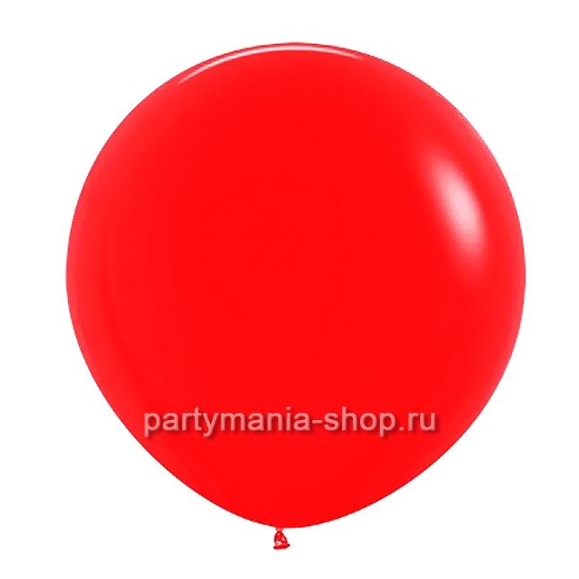 Большой красный шар пастель 90 см с гелием