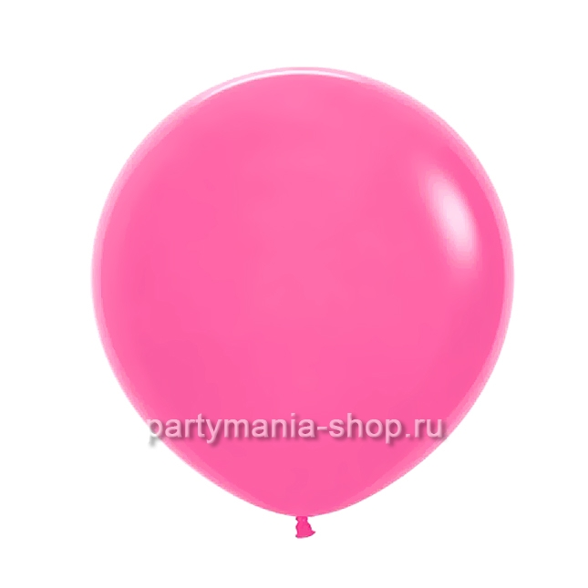 Большой малиновый шар пастель 60 см с гелием