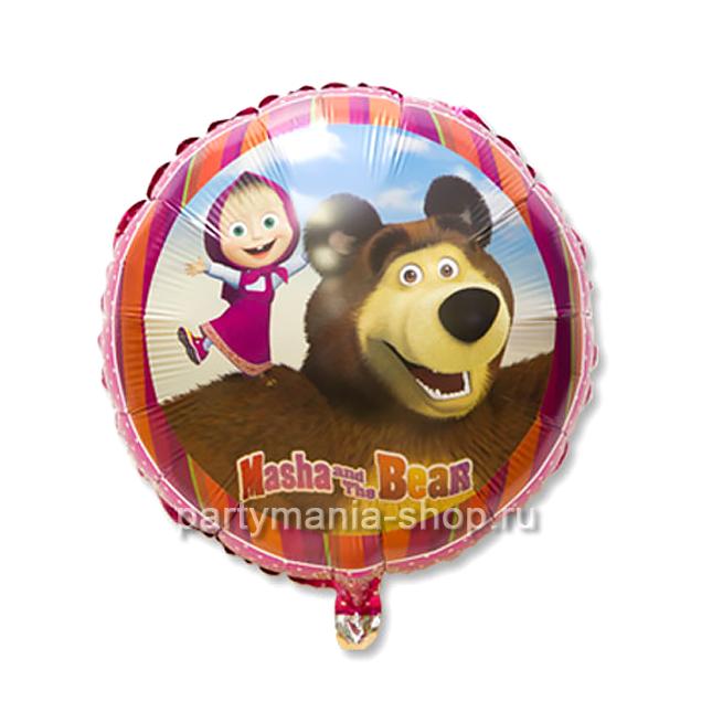 «Маша и Медведь» фольгированный  круг