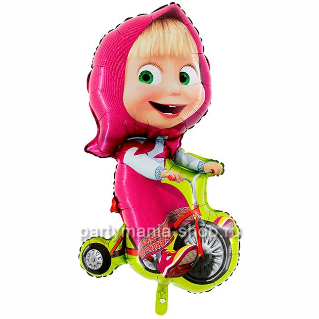 «Маша на велосипеде» фигурный шар