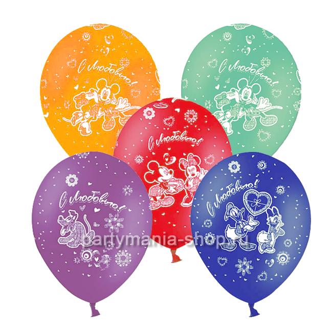 «Микки Маус» воздушные шары с круговой печатью