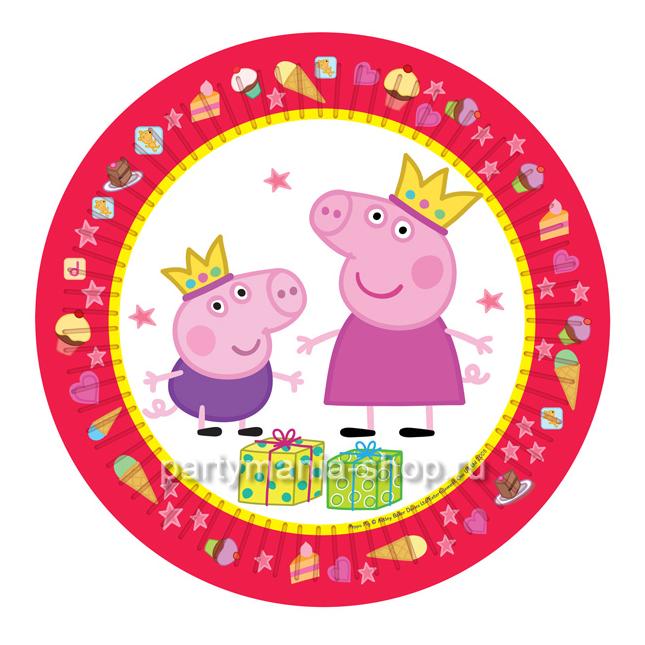 Набор тарелок Пеппа-принцесса 6 шт.