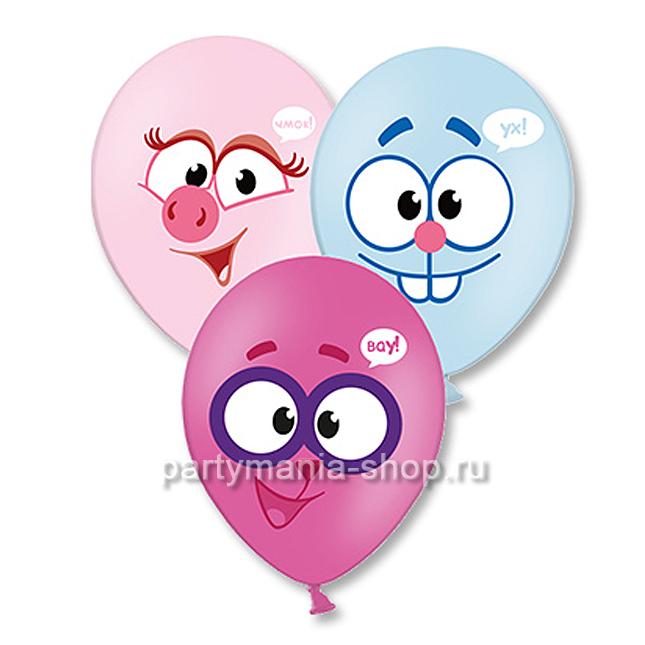 «Нюша, Крош и Ёжик» воздушные шары