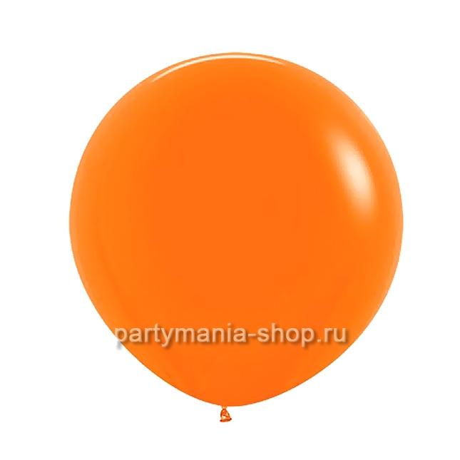 Большой оранжевый шар пастель 60 см с гелием