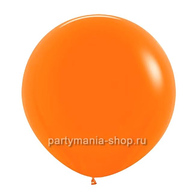 Большой оранжевый шар пастель 90 см с гелием