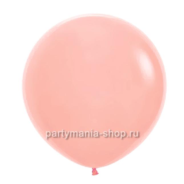 Большой персиковый шар пастель 90 см с гелием
