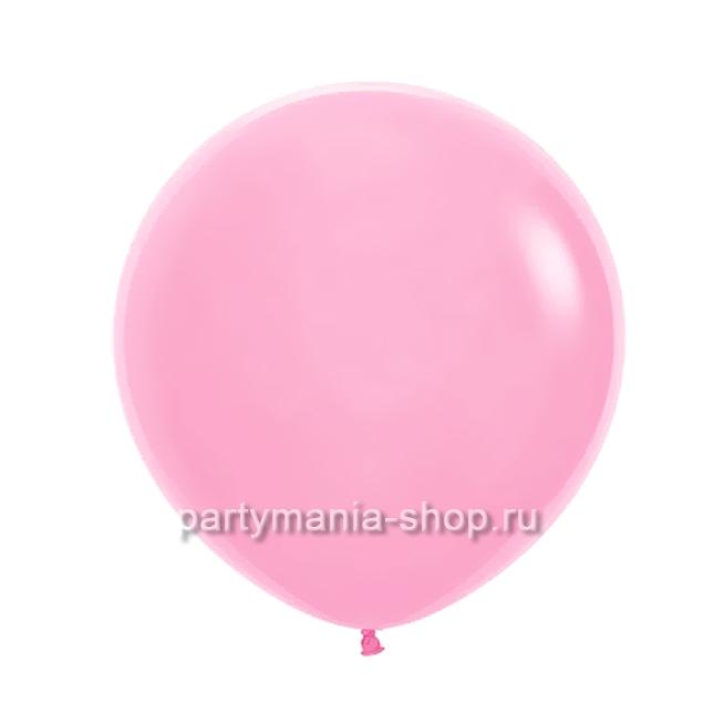 Большой розовый шар пастель 60 см с гелием