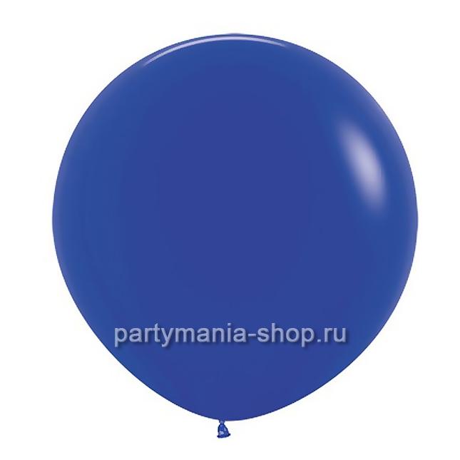 Большой синий шар пастель 90 см с гелием