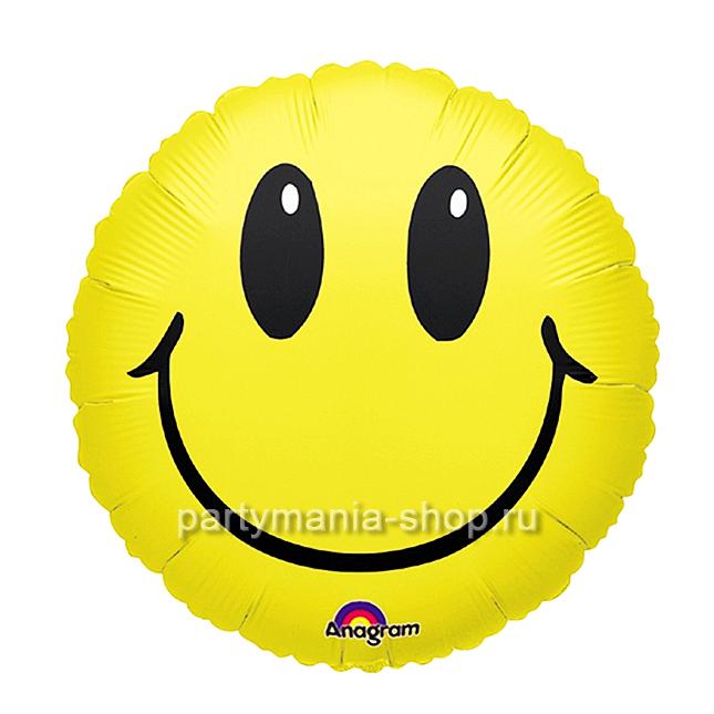 «Смайл», фольгированный шар