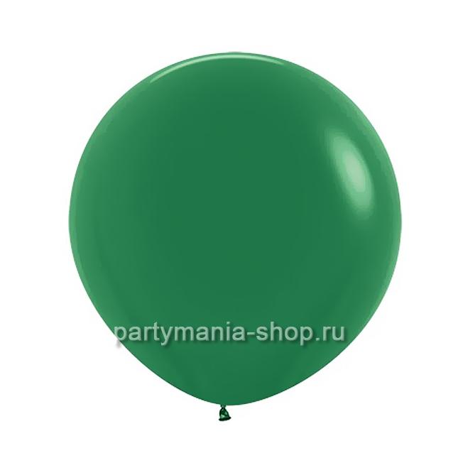 Темно-зеленый шар пастель 60 см с гелием